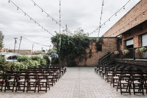 Sugar Creek Brewery was the perfect setting for a fall wedding ceremony captured by John Branch IV Photography