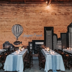 Sugar Creek Brewery was the perfect sight for a fall wedding reception coordinated by Magnificent Moments Weddigns