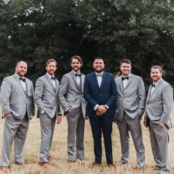 John Branch IV Photography captures a groom and his groomsmen on their wedding day at Sugar Creek Brewery