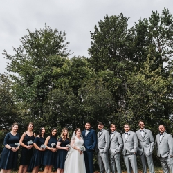 John Branch IV Photography captures a bridal party during their fall wedding at Sugar Creek Brewery
