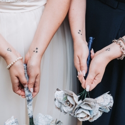 John Branch IV Photography captures the sweet details of a bride and her bridesmaids during a fall wedding in Charlotte NC