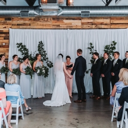 John Branch IV Photography captures the ceremony coordinated by Magnificent Moments Weddings at Triple C Barrel Room