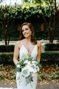 Bride poses for Jordyn Schirripa Photography showing off the stunning hair and makeup created by Cali Stott Artistry