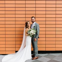 Jordyn Schirripa Photography captures a bride and groom during their Mint Museum Wedding