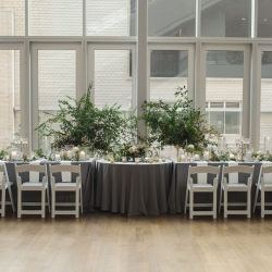 Julia Laible Photography captures a sweet head table for an event at the Mint in uptown Charlotte, North Carolina