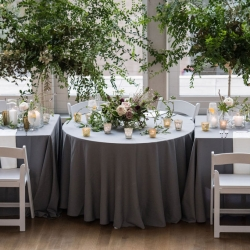 Julia Laible Photography captures the stunning work of Sarah Grimshaw Design during a summer wedding at The Mint