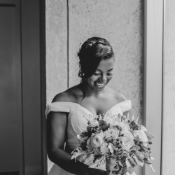 Kelly Meyers Photography captures a bride on her wedding day coordinated by Magnificent Moments Weddings at The Mint Museum Uptown