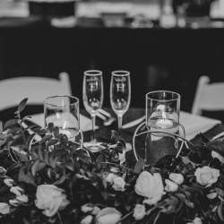 Kelly Meyers Photography captures the details of a sweetheart table designed by April's Floral Expression for a wedding in Uptown, Charlotte