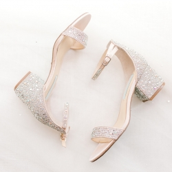 Sparkly shoes were this brides thing during a spring wedding coordinated by Magnificent Moments Weddings