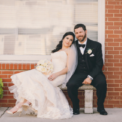bride and groom bridal portraits