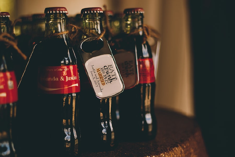 personalized wedding coca cola bottles with bottle openers