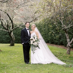 Krystal Kast Photography captures a bride and her groom during their fall wedding