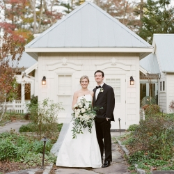Old Edwards Inn in Highlands, NC is the perfect setting for this bride and grooms fall wedding