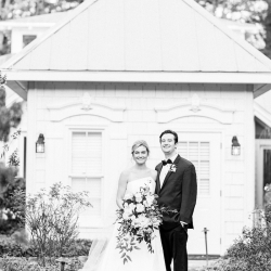 Krystal Kast Photography captures a bride and groom among the grounds of Old Edwards Inn