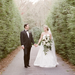 Krystal Kast Photography captures a bride and groom during their fall wedding planned by Magnificent Moments Weddings