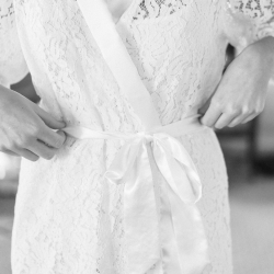 A elegant lace robe is the perfect getting ready outfit for a brides fall wedding day