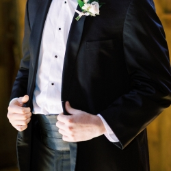 Krystal Kast Photography captures the details of a grooms suit during his wedding at Old Edwards Inn