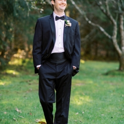 Krystal Kast Photography captures a groom as her prepares for his fall wedding in Highlands North Carolina