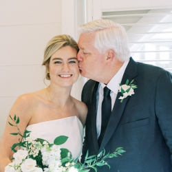 A brides father shows his love during a fall wedding captured by Krystal Kast Photography