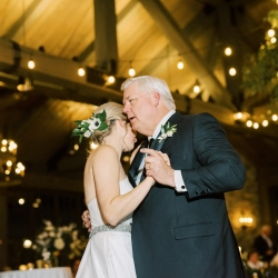 Bride dances with her father during her fall wedding captured by Krystal Kast Photography