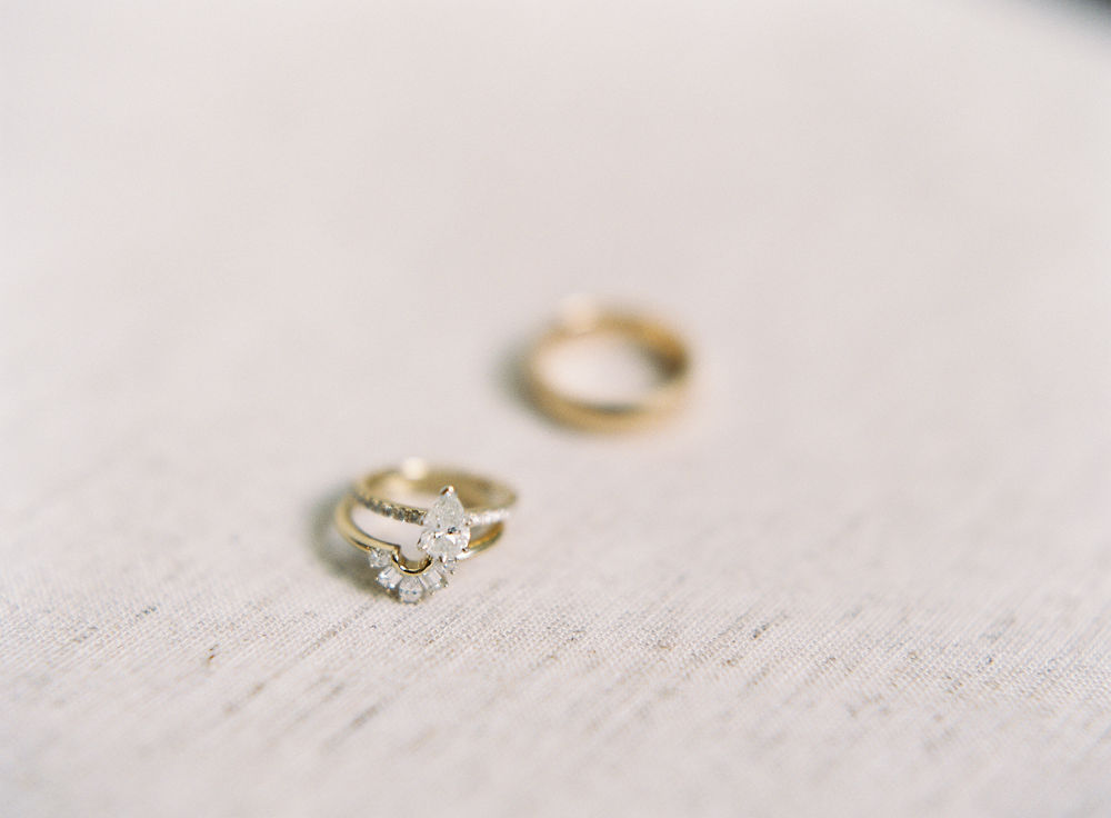 Elegant bridal jewelry captured by Maggie Colleta Photography for a fall wedding at Morning Glory Farm