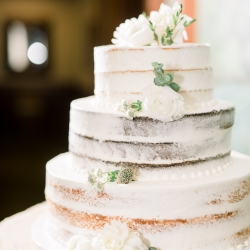 Simple three tier naked cake by Publix was the perfect sweet treat for a wedding at Old Providence Racquet Club
