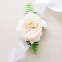 White roses were a stunning accents for an intimate wedding at Lake Tillery coordinated by Magnificent Moments Weddings