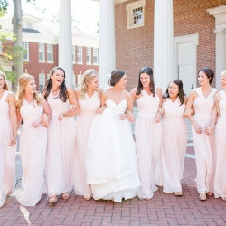 More Beatty Photography captures a bride and her bridesmaids as they prepare for her wedding ceremony at Belk Chapel coordinated by Magnificent Moments Weddings