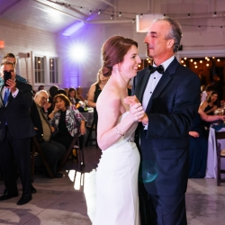 Bride shares a sweet dance with her father to music provided by Raise the Roof