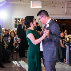 Groom shares a touching dance with his mother during his fall wedding reception coordinated by Magnificent Moments Weddings
