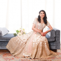 Old South Studios captures a bride wearing a stunning gown for her Indian infused wedding