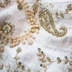 Old South Studios captures the stunning details of the brides gown for an Indian infused wedding