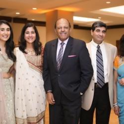 Bride and family enjoying their reception at The Westin coordinated by Magnificent Moments Weddings
