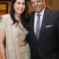 Bride and her father are all smiles during a summer wedding in Uptown Charlotte North Carolina