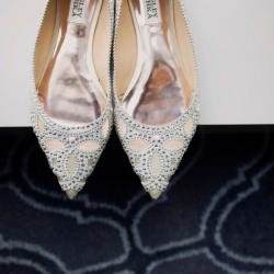 Paper Heart Photography captures the smallest details include this stunning bridal shoes for an Uptown Charlotte wedding