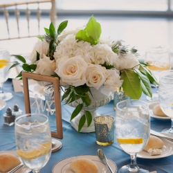 Gold accents are the perfect touch for a summer wedding at The Mint Museum Uptown