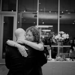 Paper Heart Photography captures a sweet moment between a mother and son during their dance at their wedding reception at The Mint Museum Uptown
