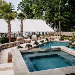 Backyard oasis becomes the perfect spot for a fall wedding coordinated by Magnificent Moments Weddings