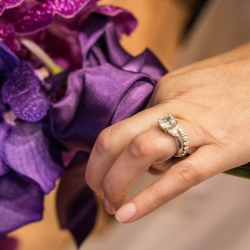 Sharon Ashley Photography captures the details of bridal jewelry during a fall wedding in Charlotte NC