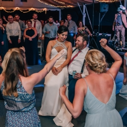 Shutter Owl Photography captures a fun moment as the brides sorority sisters sing to her and celebrate her marriage at The Ivy Place