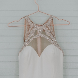 Hayden Olivia bridal dress with gem details was the perfect fit for a bride marrying at The Ivy Place