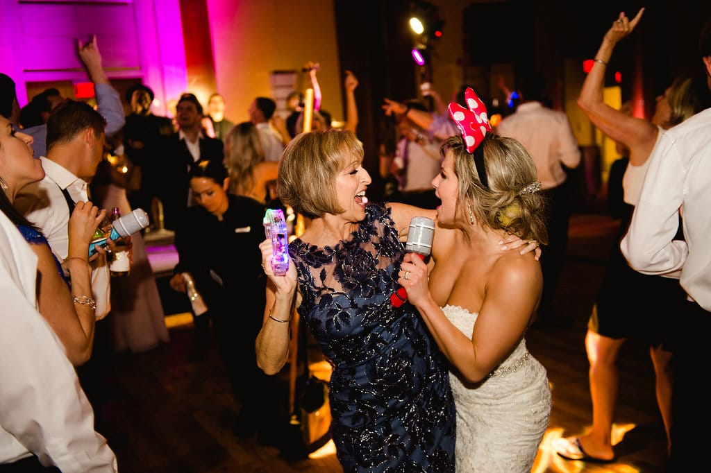 Bride dancing with family to music created by Sol Fusion during her Ritz Carlton wedding reception
