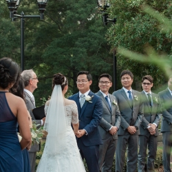 Soma Photography captures a wedding ceremony during a fall wedding coordinated by Magnificent Moments Weddings