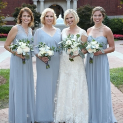 Strauss Studios captures a bride and her bridesmaids before her wedding ceremony at Belk Chapel coordinated by Magnificent Moments Weddings