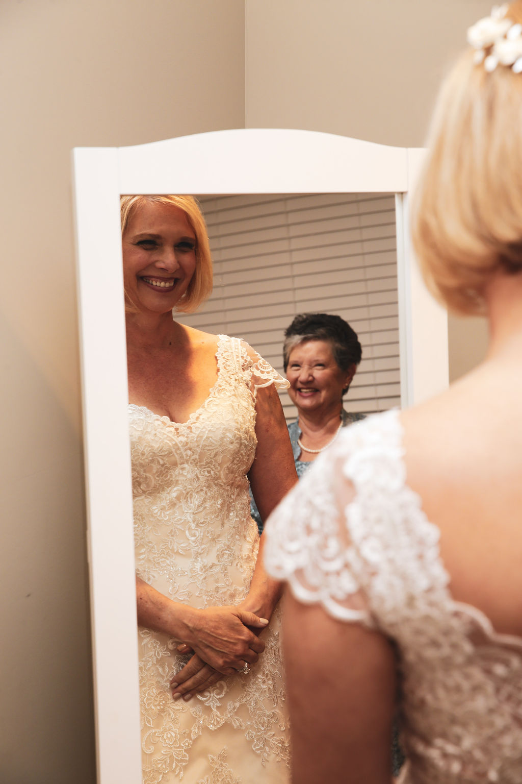 Bride prepares for her wedding at Belk Chapel before her wedding ceremony coordinated by Magnificent Moments Weddings