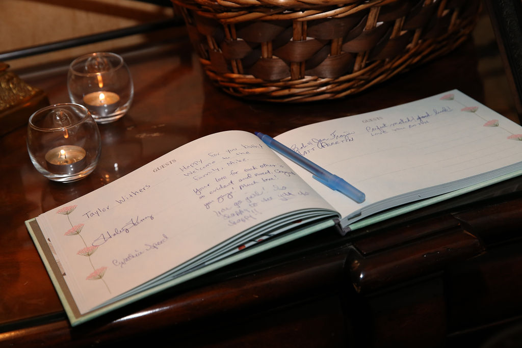 Strauss Studios captures a unique guestbook during a wedding at Charlotte City Club