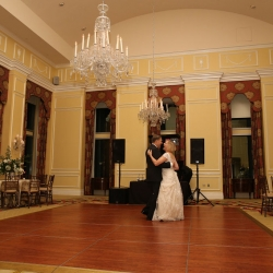 Charlotte City Club creates a wonderful setting for romantic couples first dance to music by Z Brothers