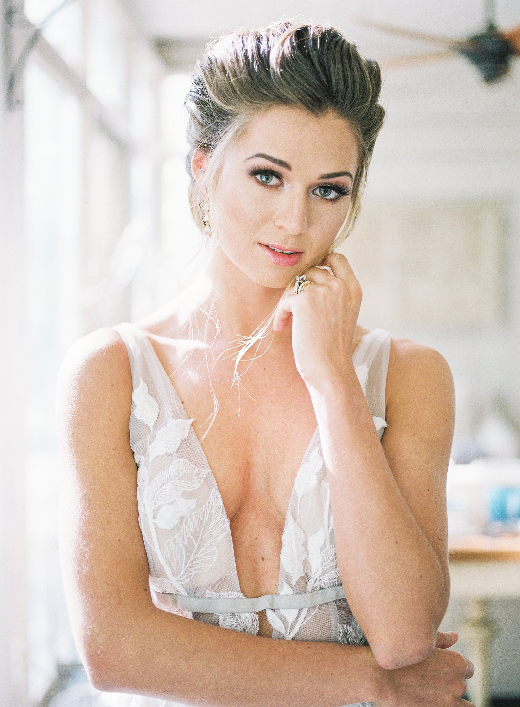 Stunning hair by Katy Barbour and makeup by Jenny Le for a styled shoot at Tipsy Goat Estate captured by Sunshower Photography