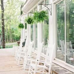 Tipsy Goat estate has a fun front porch lined with southern rocking chairs that served as a great location for a styled shoot