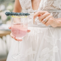 Rock candy served as a sweet treat for a styled shoot at Tipsy Goat Estate captured by Sunshower Photography
